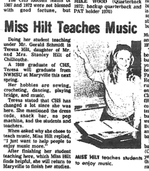"""Miss Hilt"" at CHS"